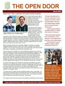 open door clinic newsletter 0316