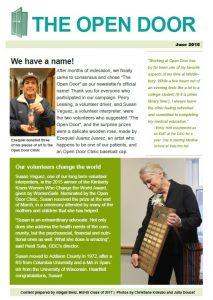 open door clinic newsletter 0615
