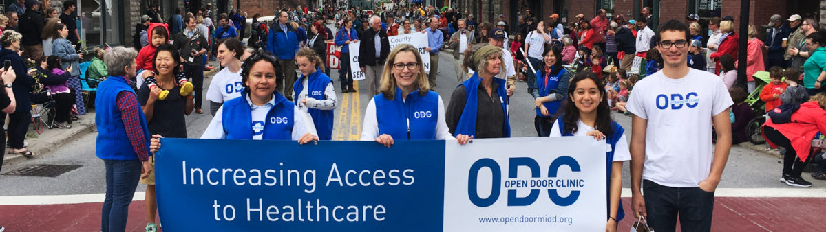 Volunteer for Open Door Clinic Middlebury, VT