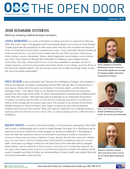 ODC summer 2019 newsletter-TN
