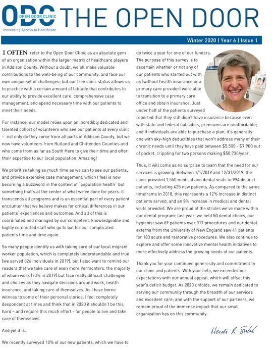 ODC newsletter winter 2020